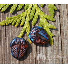 Picasso Brown Czech Glass Trilobite Beads Flat Czech Glass Picasso Beads Fossil Bead Rustic Style Beads 13mm x 10mm 8pc for $1.8 from Czech Beads Exclusive