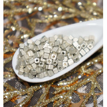 Matte Silver Czech Glass Cube Seed Beads 8/0 PRECIOSA Seed Beads Size 8 Pearls Rocaille Beads Czech Glass Spacer Beads 2mm x 2mm 20g for $2.14 from Czech Beads Exclusive