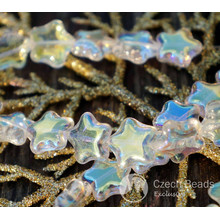 Shiny Clear Iris Yellow Star Beads Glass Star Bead Flat Star Glass Beads Star Czech Glass Beads Yellow Glass Czech Star Bead 12mm 10pc for $1.75 from Czech Beads Exclusive