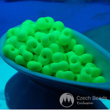 20g Green Neon Seed Beads UV Active Beads Hot Green Beads Czech Beads Farfalle Peanut Beads Czech Glass Seed Beads Spacer Bead 6mm for $3.39 from Czech Beads Exclusive