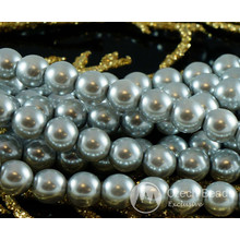 Silver Pearl Czech Glass Round Beads Glass Imitation Pearls 4mm 100pcs for $2.78 from Czech Beads Exclusive