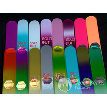 Authentic Patented Multicolor Czech Glass Nail File Two Sided 140mm 5.51in 1pc for $5.83 from Czech Beads Exclusive