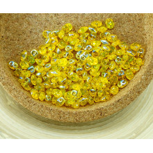 20g Crystal Amber Yellow AB Half SUPERDUO Czech Glass Seed Beads Two Hole Super Duo 2.5mm x 5mm for $4.66 from Czech Beads Exclusive