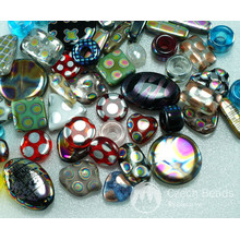 SUPER MIX! Peacock Oval Square Star Heart Rectangle Czech Glass Beads Mix 50g approx 30pcs for $8.15 from Czech Beads Exclusive