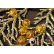 Clear Yellow Cracked Glass Beads Clear Yellow Beads Czech Glass Round Beads Czech Beads Bohemian Beads Authentic 7mm 10pc for $2.4 from Czech Beads Exclusive