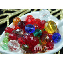 Mix Clear Multicolor Czech Faceted Fire Polished Round Glass Beads 12mm 20g Approximately 33pcs for $3.3 from Czech Beads Exclusive
