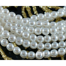 White Pearl Czech Glass Round Beads Glass Imitation Pearls 4mm 100pcs for $2.78 from Czech Beads Exclusive