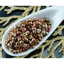 NEW FINISH 10g Metallic California Golden Rush Bronze Matubo 8/0 Czech Glass Large Hole Seed Beads for $3.57 from Czech Beads Exclusive