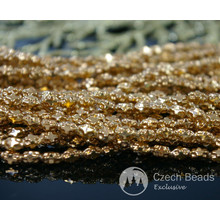 24K Filled Gold Plated Czech Glass Cross Oval Beads 5mm x 3mm 20pcs for $2.64 from Czech Beads Exclusive