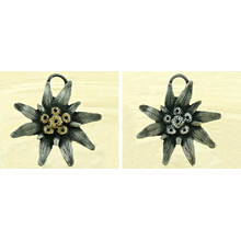 1pc Large Flower Czech Findings Matte Aged Antique Silver Bohemian Pendant Focal Rustic Handmade 55mm for $5.55 from Czech Beads Exclusive