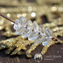 Crystal Clear Angel Wings Beads Czech Glass Beads Clear Spacer Beads Czech Beads Bohemian Beads Crystal Clear Czech Beads 9mm x 3mm 50pcs for $2.27 from Czech Beads Exclusive