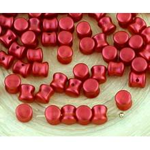 60pcs Mate de Lava Roja PRECIOSA Bolita de Diablo Dogbone checa Perlas de Vidrio de 4 mm x 6mm para $ 2.74 de Czech Beads Exclusive