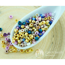 20g Mix Gold Blue Purple Czech Glass Round Seed Beads 8/0 PRECIOSA Pearls Rocaille Spacer 2.9mm for $2.39 from Czech Beads Exclusive