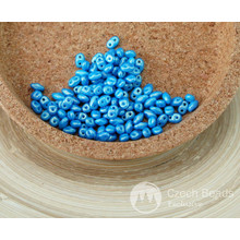 NUOVA FINITURA 10g ORO BRILLARE Aqua Blu MINIDUO ceca Seed Beads di Vetro a Due Fori Mini Duo 2mm x 4mm per $ 3.35 da Czech Beads Exclusive