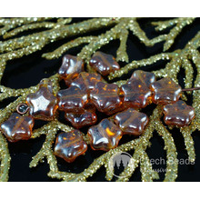 Shiny Metallic Yellow Czech Glass Star Beads 8mm 30pcs for $2.31 from Czech Beads Exclusive