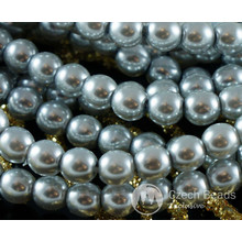 Silver Pearl Czech Glass Round Beads Glass Imitation Pearls 6mm 60pcs for $2.98 from Czech Beads Exclusive
