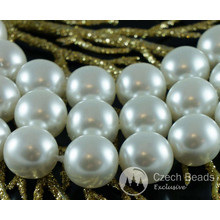 White Pearl Czech Glass Round Beads Glass Imitation Pearls 12mm 10pcs for $2.98 from Czech Beads Exclusive