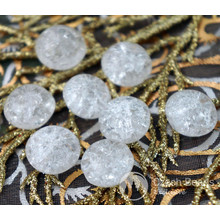 Crystal Cracked Glass Czech Flat Round Beads Clear Round Czech Glass Beads Glass Czech Flat Coin Beads Tablet Shape Bead 14mm x 10mm 6pc for $2.4 from Czech Beads Exclusive