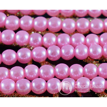 Pink Pearl Czech Glass Round Beads Glass Imitation Pearls 4mm 100pcs for $2.76 from Czech Beads Exclusive