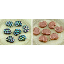 8pcs Carved Czech Glass Shell Ammonite Fossil Beads 17mm X 13mm for $2.83 from Czech Beads Exclusive