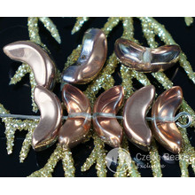 Large Bronze Clear Czech Glass Angel Wings Beads Spacer 14mm x 6mm 12pcs for $2.29 from Czech Beads Exclusive