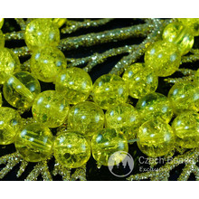 Clear Lemon Yellow Czech Cracked Glass Beads Summer Spring 10mm 8pcs for $2.4 from Czech Beads Exclusive