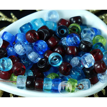 Multicolor Mix Czech Glass Round Pony Large Hole Beads Ring Roller Crow 6mm x 4mm 60pcs for $2.58 from Czech Beads Exclusive