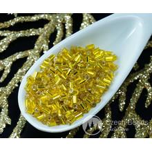 20g in Oro Giallo e Argento Foderato ceca Tubo di Vetro Seme Perline PRECIOSA Perle Rocaille Distanziale 2.4 mm per $ 2.59 da Czech Beads Exclusive