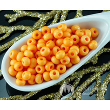 20g Matte Orange Halloween Czech Glass Round Seed Beads 6/0 PRECIOSA Pearls Rocaille Spacer Halloween 4mm for $2.44 from Czech Beads Exclusive