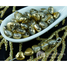 Small Metallic Gold Clear Czech Glass Heart Beads Wedding Valentines 6mm 40pcs for $2.31 from Czech Beads Exclusive