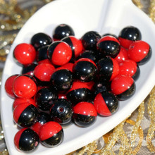 20pcs Black Red Halloween Czech Glass Round Beads Two Tone Color Christmas 8mm for $2.38 from Czech Beads Exclusive