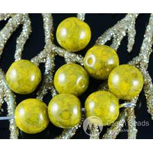 Travertin Vert Olive en Verre tchèque Perles Rondes 8mm 20pcs pour $ 2.61 à partir de Czech Beads Exclusive
