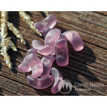 Matte Purple Czech Glass Angel Wings Beads Bow Spacer 9mm x 3mm 50pcs for $2.37 from Czech Beads Exclusive