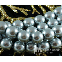 Silver Pearl Czech Glass Round Beads Glass Imitation Pearls 7mm 40pcs for $2.82 from Czech Beads Exclusive