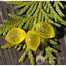 Klare Gelbe Zitrone-Perlen Tschechische Glas Lemon Perlen Glas Obst-Perlen Zitrone Glas Fallen, Tschechische Zitrone-Perlen Tschechische Glas Perlen 14mm x 10mm 10er für $ 2.35 von Czech Beads Exclusive