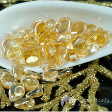 60pcs Clear Luster Yellow PIP Beads Czech Glass PIP PRECIOSA PIP Beads Czech Flower Flat Flower Petal Beads 5mm x 7mm for $3.13 from Czech Beads Exclusive