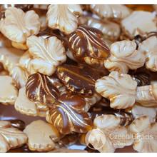 Checa Perlas de Vidrio Marrón de la Hoja de Bronce Mate Beige Crema Original Exclusivo Auténtica 16 mm x 14mm 4pcs para $ 2.4 de Czech Beads Exclusive