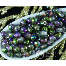 Magic Violet Green Crystal Round Czech Glass Fire Polished Beads 4mm 8g Approximately 160pcs for $2.27 from Czech Beads Exclusive