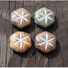 Matte Picasso Brown White Beads Rustic Glass Beads Large Flat Hexagon Glass Beads Hexagon Czech Glass Beads Star Beads 16mm x 18mm 2pc for $3.12 from Czech Beads Exclusive