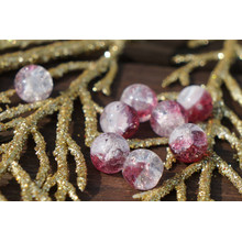 Dark Clear Pink Cracked Glass Beads Clear Pink Beads Czech Glass Round Beads Czech Beads Bohemian Beads Authentic Wedding Beads 7mm 10pc for $2.4 from Czech Beads Exclusive
