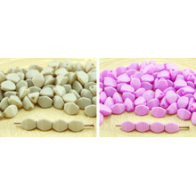 60pcs Light Silk Matte Pinch Bicone Faceted Spacer Czech Glass Beads 5mm for $3.15 from Czech Beads Exclusive