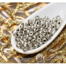 20g Metallic Old Silver Czech Glass Round Seed Beads 9/0 PRECIOSA Pearls Rocaille Spacer 2.6mm for $2.35 from Czech Beads Exclusive