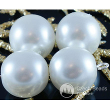 Large White Pearl Czech Glass Round Beads Glass Imitation Pearls 14mm 6pcs for $2.94 from Czech Beads Exclusive