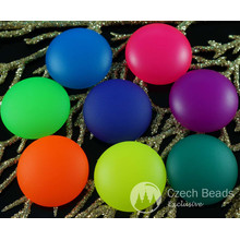 2pcs Mix UV Active Neon Matte Czech Glass Cabochon Domes 24mm x 7mm for $3.21 from Czech Beads Exclusive