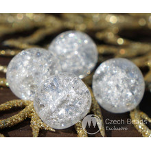 Crytal Clear Cracked Glass Beads Crytal Clear Beads Czech Glass Round Beads Czech Beads Bohemian Beads Original Wedding Beads 10mm 4pc for $2.4 from Czech Beads Exclusive
