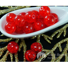 Bright Red Czech Cracked Glass Beads 7mm 16pcs for $2.4 from Czech Beads Exclusive
