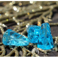 Clear Turquoise Glass Icicle Beads Turquoise Long Teardrop Beads Cone Beads Turquoise Czech Glass Bead Czech Spike Cone Beads 14mm x 8mm 8pc for $2.27 from Czech Beads Exclusive