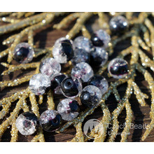 Clear Black Cracked Glass Beads Clear Black Beads Czech Glass Round Beads Czech Beads Bohemian Beads Authentic 7mm 10pc for $1.84 from Czech Beads Exclusive