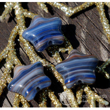 Picasso Blue Star Beads Glass Star Bead Picasso Flat Star Glass Beads Blue Star Czech Glass Beads Glass Czech Star Bead 12mm 12pc for $1.86 from Czech Beads Exclusive