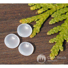 Matte Clear White Czech Glass Disk Beads Solo Beads Flat Disk Beads Czech Flat Glass Spacer Bead One Hole Bead Flat White Disk Bead 6mm 60pc for $2.4 from Czech Beads Exclusive